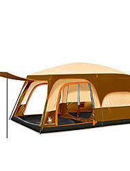 5-8 personnes Tente Double Deux pièces Tente de camping énorme Portable-Camping Voyage-Jaune