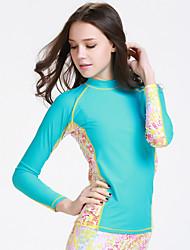 Sportif Femme Haut de Combinaison Respirable Design Anatomique Ecran Solaire Compression Néoprène Tenue de plongée Manches longues