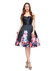 Ball Gown Sweetheart Knee Length Satin Cocktail Party Homecoming Dress with Pleats by TS Couture®