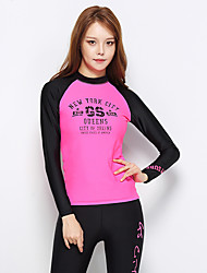 Sports Women's Wetsuit Skin Chinlon Diving Suit Long Sleeve Tops-Swimming Diving Spring Summer Classic