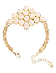 Femme Chaînes & Bracelets Perle Alliage Naturel Amitié Vintage Bohême Hip-Hop Forme Ovale Gris Bijoux 1pc