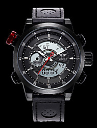 Men's Wrist watch Quartz PU Band Cool Black