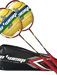 Raquettes de Badminton Durable Stabilité Fibre de carbone Une Paire × 2 pour Extérieur Utilisation Exercice Sport de détente