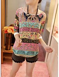 2015 primavera nova tendência de coreano huse puff costura laço camisa manga casaco cintura