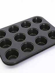 Non stick cake mould mini 12 cups muffin baking pan large size FDA carbon steel small size