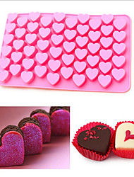 55 Hole Heart Not To Touch The Silicone Cake Baking Mould DIY Chocolate Cake Mould