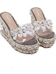 Loafers para mulheres&Slip-ons Primavera Primavera inverno solas PU casual
