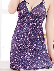 Damen Babydoll & slips Nachtwäsche,Retro Solide-Elasthan