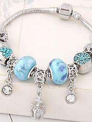Charm Bracelet Alloy Rhinestone Flower Crown Fashion Women's Jewelry 1pc