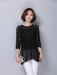 Sign 2016 Hitz Korean loose chiffon shirt sleeve lace shirt blouse tide