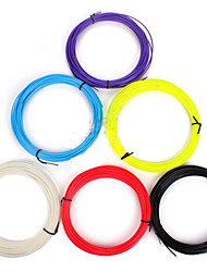 3d pluma impresión pla, 10 metros consumibles 1,75 mm, unas seis productos, seis colores, rojo, amarillo, blanco, púrpura, rosa, negro