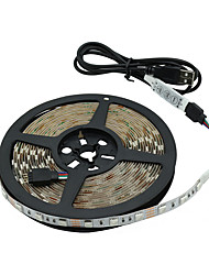 5M RGB 5V USB LED Strip Light 5050 -60SMD LED Flexible Strip Light TV Background Lighting Kit USB Cable 30W WLight Sets Waterproof Tape Mini 3Key RGB