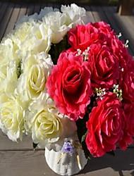 1 Une succursale Plastique Roses Fleur de Table Fleurs artificielles 30*30*35