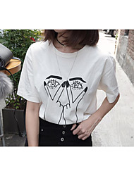 2017 new Korean wild cartoon images loose, casual cotton short-sleeved T-shirt bottoming 620 #