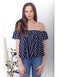 Aliexpress Ebay летом новое европейское и американское сексуальное с плечом блузки воротник пятно