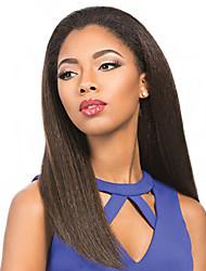 perucas cheias do laço yaki perucas de cabelo Remy em linha reta para as mulheres negras
