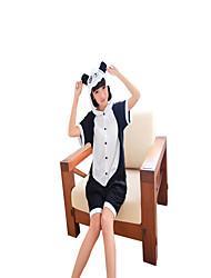 Kigurumi Pijamas Panda Collant/Pijama Macacão Festival/Celebração Pijamas Animais Dia das Bruxas Preto branco Color BlockFantasias de