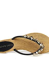 Sandales femme printemps confort pu occasionnel jaune beige noir