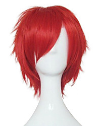Capless big red jeune homme perruque cosplay synthétique cheveux courts cheveux courts