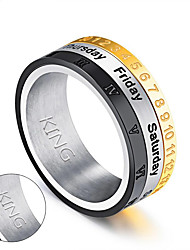 Personalized Gift Rings Stainless Steel
