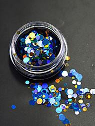 1 bouteille de la mode colorée et mélangée à la mousse pétillante à l'ongle art glitter laser ronde paillette décoration ongle art beauté