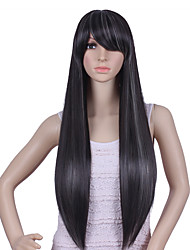Long Black/gray Straight wig Material Wigs for Women Cosplay