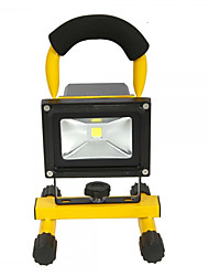 Hkv® 1pcs 10w 900-1000lm 6000-6500k lumière blanche portable chargable floodlight feux de secours led floodlight (ac 85-265v)