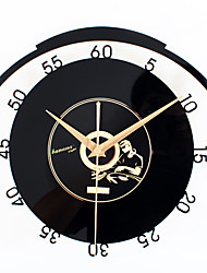 Retro Office/Business Holiday Music Wall ClockNovelty Acrylic Metal Indoor Clock30cm