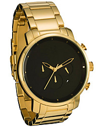 Men's Fashion Watch Quartz Alloy Band Casual Black Grey Gold