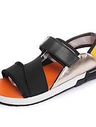 Черный Оранжевый Цвет экрана-Для мужчин-Повседневный-Ткань-На плоской подошве-Удобная обувь-Сандалии