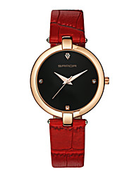 Women's Fashion Watch Casual Watch Japanese Quartz Leather Band Charm Casual Black Red White Black