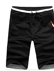 Men's Mid Rise Inelastic Shorts Pants Slim Solid