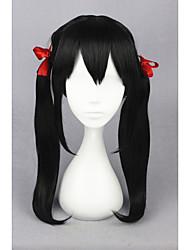 Médio love live! -yazawa nico preto 20inch anime cosplay ponytails peruca cs-181f
