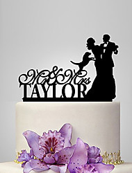 Personalized Acrylic Dancing With You Wedding Cake Topper