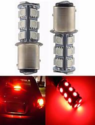 2pcs 1157 18 * 5050 smd levou luz do carro lulb luz vermelha dc12v