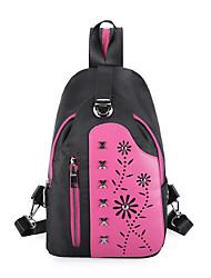 Дамский пу отдых модный наклонный рюкзак груди пакет
