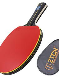 Ping Pang/Tennis de table Raquettes Ping Pang Bois Long Manche Boutons 1 Raquette 1 Sac de Tennis de TableZTON