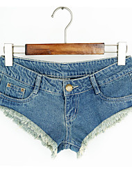 Women's Low Rise Micro-elastic Shorts Pants,Simple Slim Solid