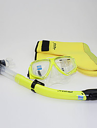 Diving Masks Diving Packages Snorkels Protective Diving / Snorkeling Neoprene Fibre Glass silicone Yellow Blue Black Fuchsia