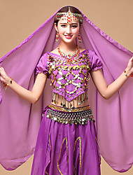 Danza del Vientre Velo Mujer Representación Tul 1 Pieza Tocados Velo