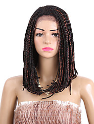 braided wig lace frotal synthetic braiding wig 16inch purple kanekalon wigs bug brown 613color women's wig synthetic box braids wig 1pc 3x braids wigs