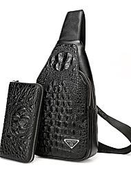 Men PU Formal Casual Event/Party Office & Career Bag Sets Black