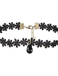 Жен. Ожерелья-бархатки Бижутерия Свисающие Кружево Акрил Базовый дизайн В виде подвески Multi-Wear способы Бижутерия Назначение Свадьба