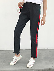 Women's High Rise High Elasticity Sweatpants Pants,Simple Loose Solid