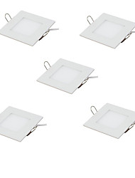 5pcs 3W LED Panel Light Ultra Thin Ceiling Recessed Downlight Warm/Cool White Color Square LED Spot Light AC85-265V