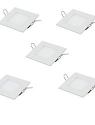 5pcs 3w llevaron el techo ligero ultra fino del panel encajonado downlight caliente / el cuadrado blanco fresco del color llevó la luz