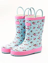 Feminino-Botas-Conforto-Rasteiro-Azul Rosa claro-Borracha-Ar-Livre