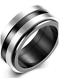 Concise Mixed Color Titanium Steel Eternity Band Wedding Ring Jewellery for Women Accessiories