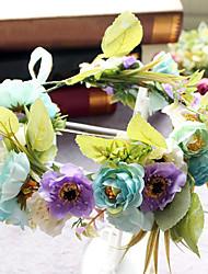 Basketwork tissu net tête-mariage spéciale occasion couronnes décontractées extérieures 1 pièce