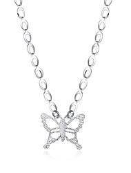 Femme Pendentif de collier Colliers chaînes Bijoux Forme de Noeud Cuivre Plaqué argent AlliageBasique Original Pendant Animal Naturel